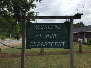 Rockland Highway Department Sign