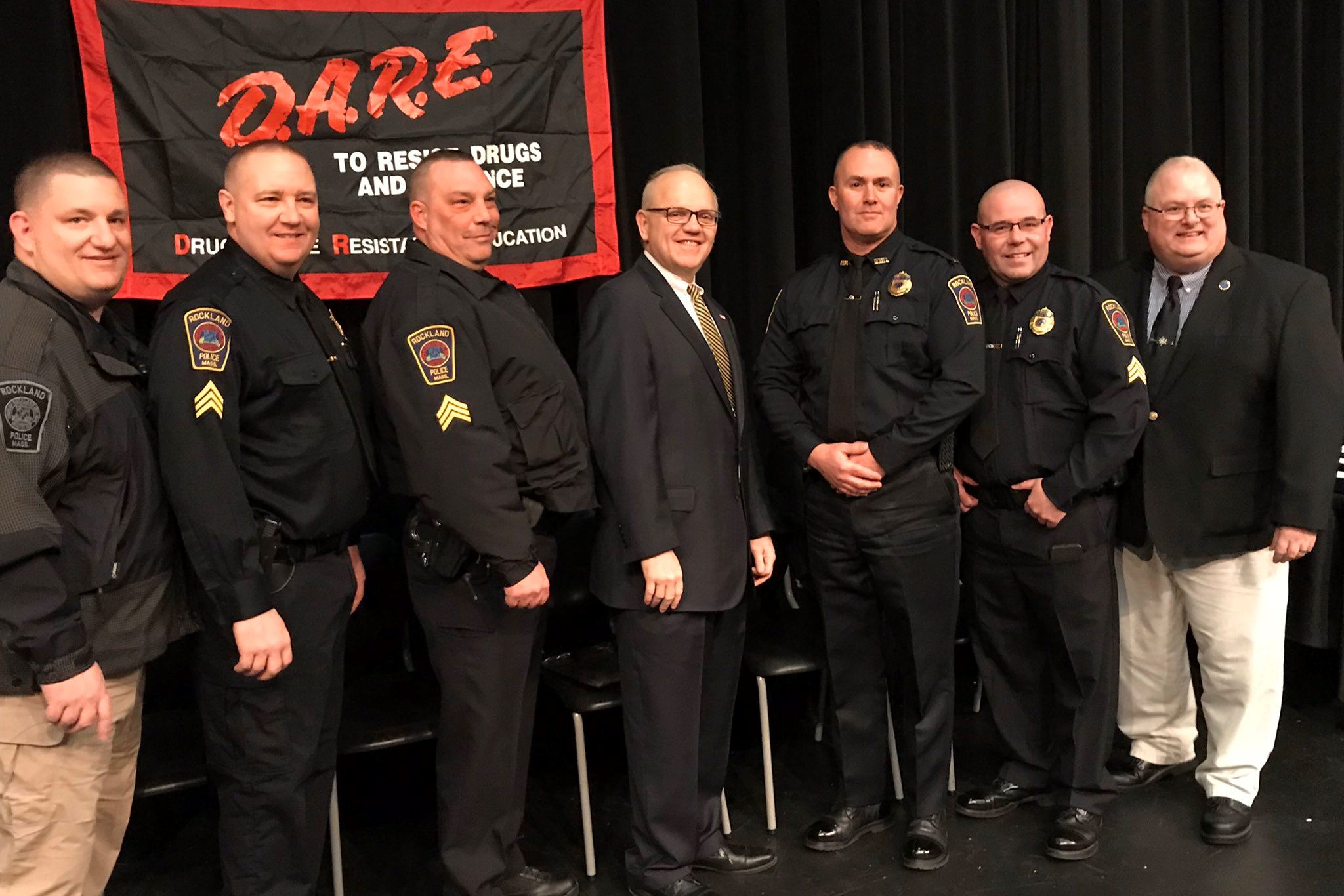 Officers at D.A.R.E Graduation 2020