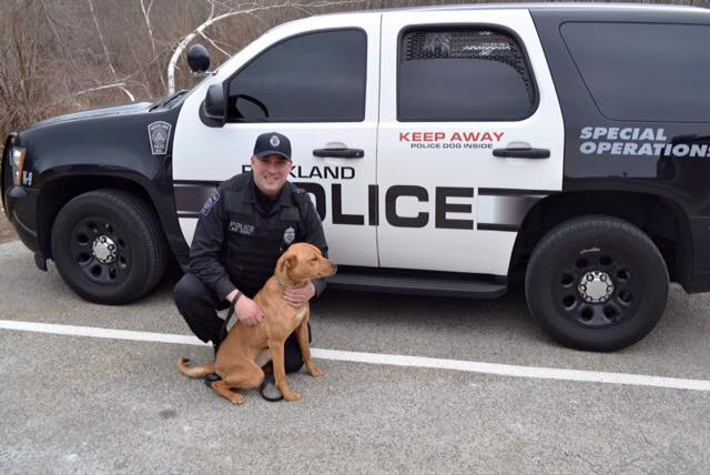 Officer with K-9 Friday